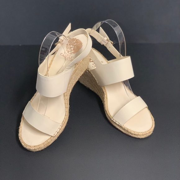 Vince Camuto Shoes - VINCE CAMUTO Wedge Sandals Vanilla Soft Silky